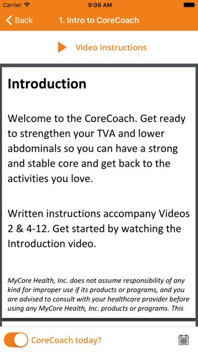 CoreCoach screenshot #2