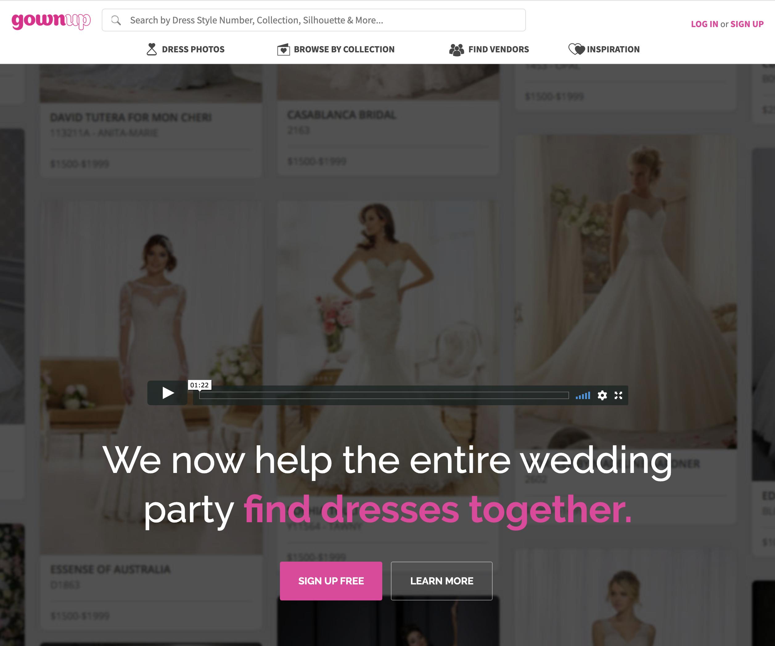 GownUp.com screenshot #0