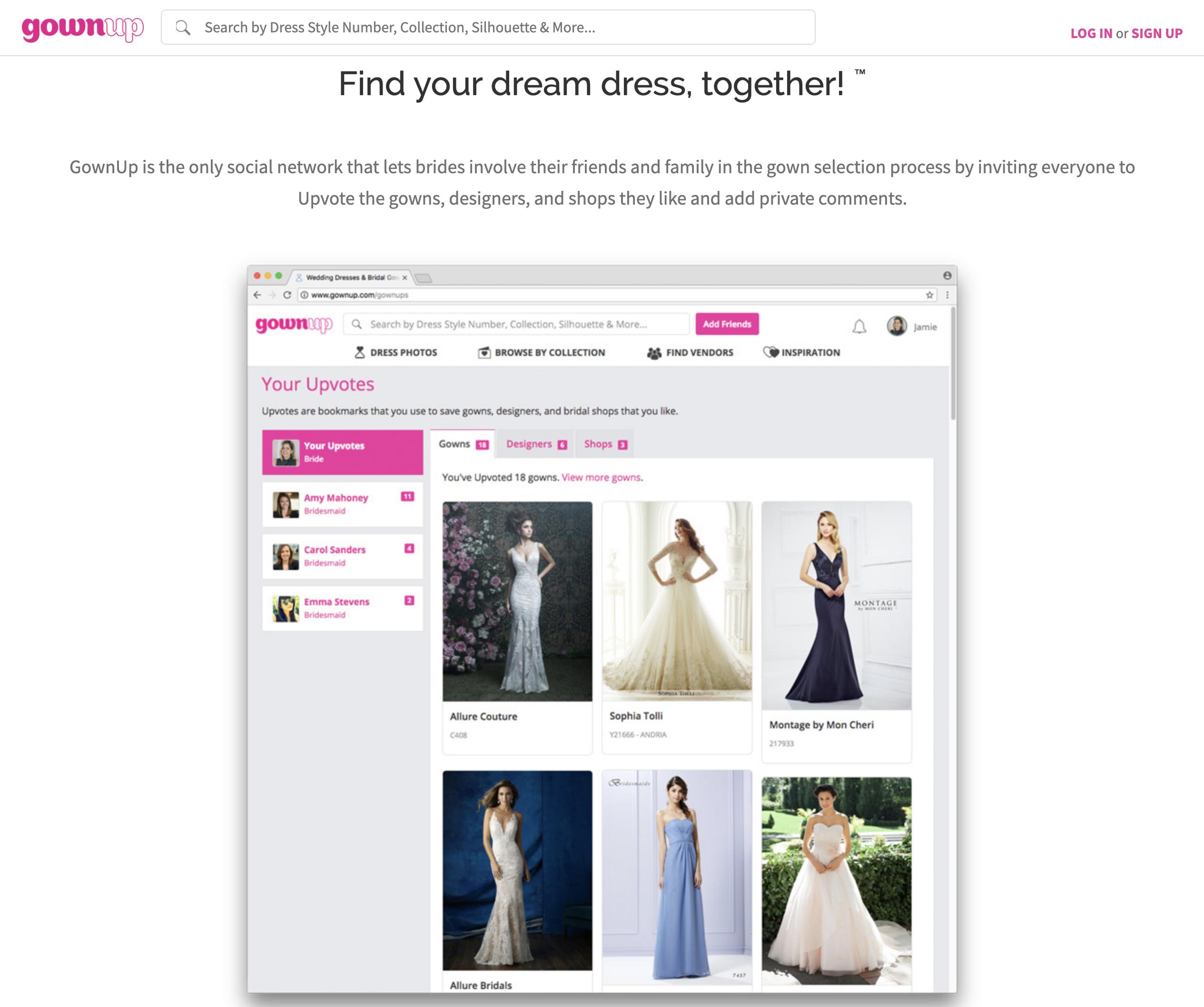 GownUp.com screenshot #2